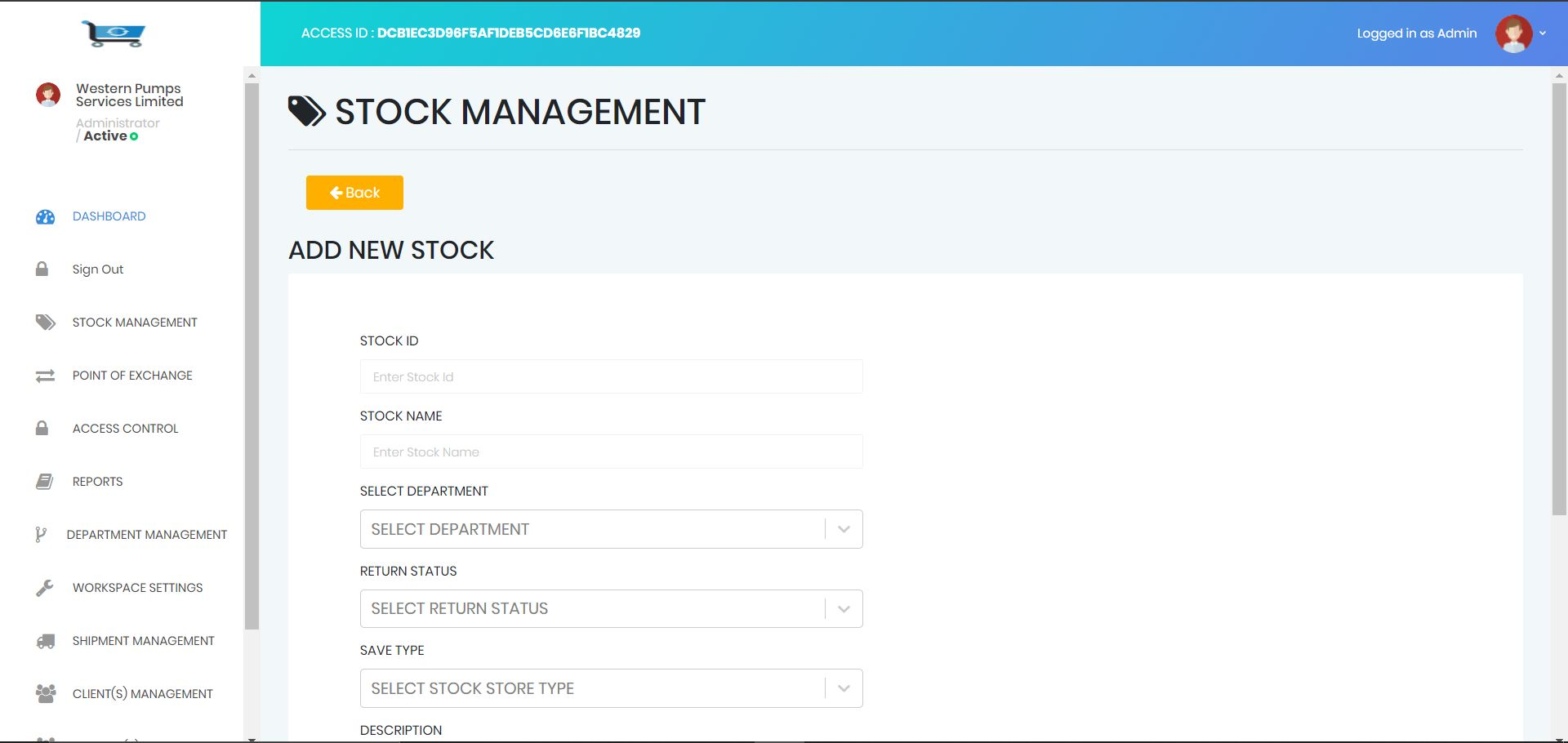 inventory Stock management