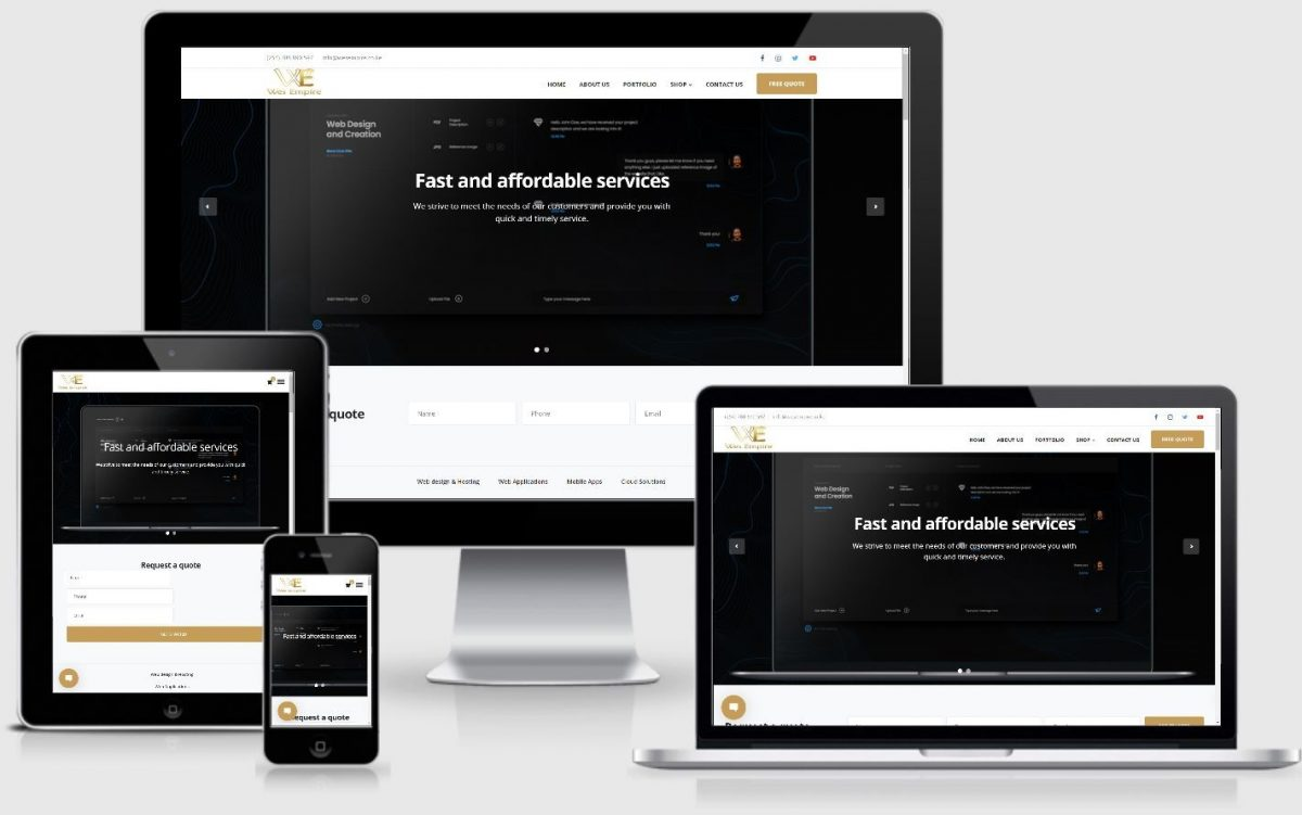 Wes Empire Responsive Website Development